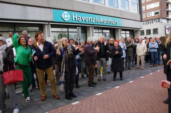 Huisartsen protesteerden bij Havenziekenhuis