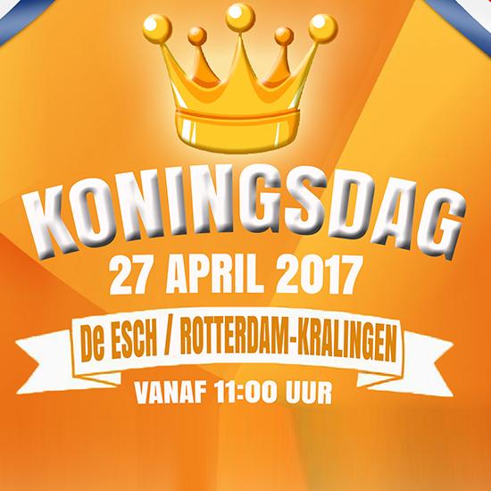 Het programma van de Koningsdag in de Esch