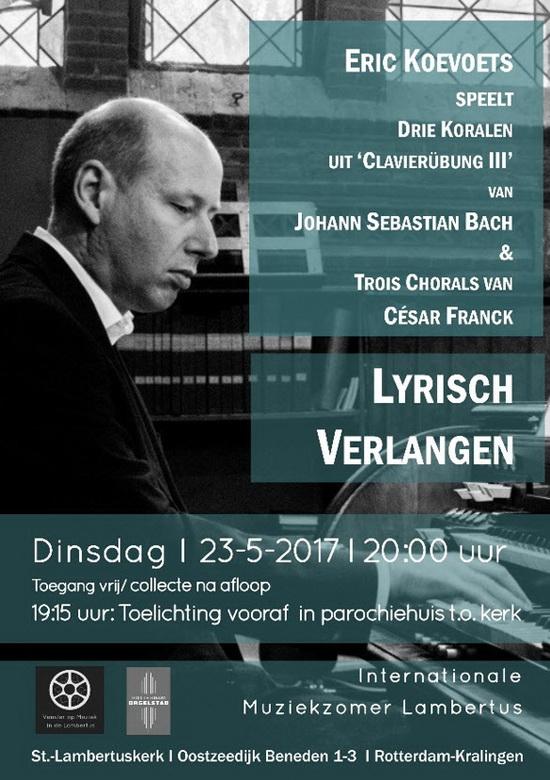 Lyrisch verlangen  – koralen van Bach en Franck