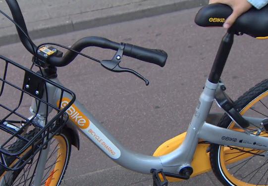Grijs-gele fietsen (oBike) nu ook in Kralingen