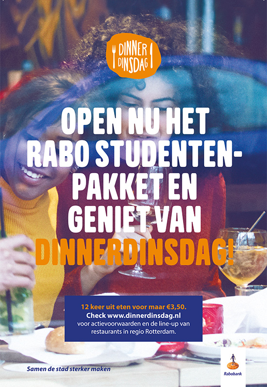 Open nu het Rabo Studentenpakket en geniet van DinnerDinsdag!