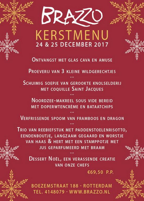 Kerstmenu Brazzo op 24 en 25 december
