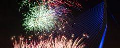 Het nationale vuurwerk in Rotterdam succesvol verlopen