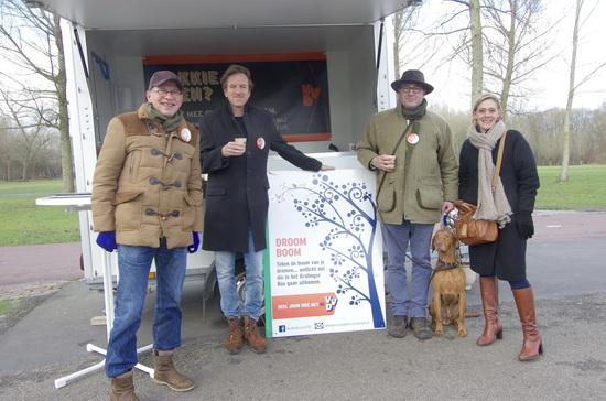 Blauwbekken met de VVD-ers in het Bos