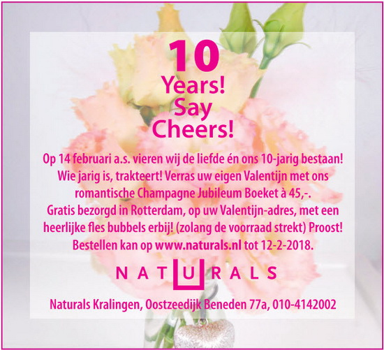 Naturals: 10 Years Say Cheers!