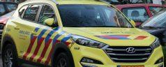 Automobilist ramt wegwijzer in Kralingen