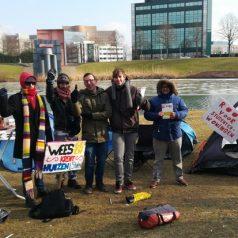 Tentenkamp op Erasmus Universiteit Rotterdam