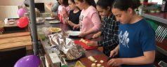 Groep 8 Arentschool organiseerde lopend buffet voor de buurt!