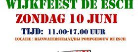 Wijkfeest de Esch op zondag 10 juni