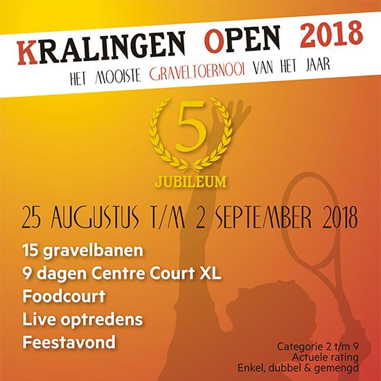 Jubileum jaar voor Kralingen Open tennis toernooi