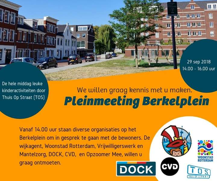 Kom zaterdag 29 september naar de meeting op het Berkelplein