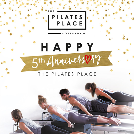 "The Pilates Place Rotterdam 5 jaar ""Anniversary Arrangement"""