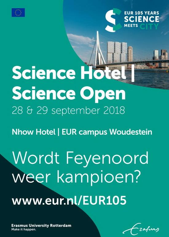 Jarige Erasmus Universiteit viert lustrum met wetenschapsfestival Science Hotel/Science Open