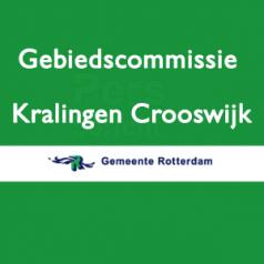 Vergadering Gebiedscommissie Kralingen-Crooswijk op donderdag 5 september