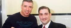 Roy Makaay bij opening Fabian Garcia Barbershop