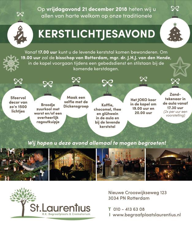 21 december: kerstlichtjesavond St. Laurentius