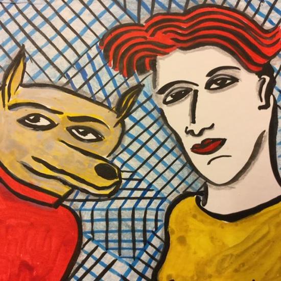 Kunst in de Steek: Thea van Doorn-VROUW & HOND