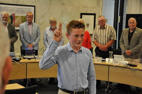Beëdiging Inco de Jong als jeugdbestuurder