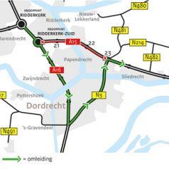 Weekendafsluiting A15 gaat niet door
