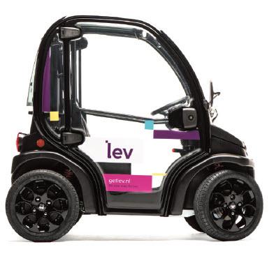 Elektrisch autootje Lev in deeltijd