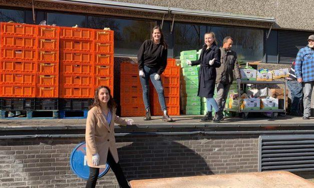 Studentenvereniging Sanctus Laurentius helpt voedselbank