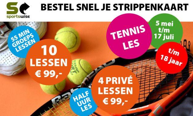 Flexibele opzet voor de tennislessen jeugd bij Tennispark Kralingen