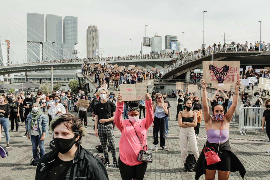Black Lives Matter demonstratie in Rotterdam