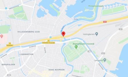 A20 richting Gouda dicht bij Crooswijk