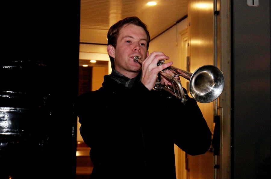 De trompettist van de Hoflaankerk