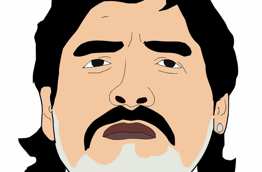 Kunstwerk van Maradona op het Schuttersveld beklad
