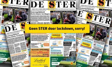 Geen Ster door lockdown, sorry!