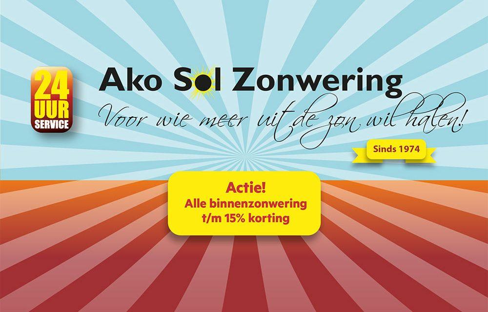 Actiekorting voor alle binnenzonweringen bij Akosol