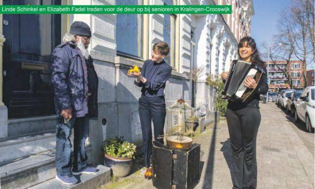 Senioren Kralingen-Crooswijk krijgen muziektheaterstuk aan huis