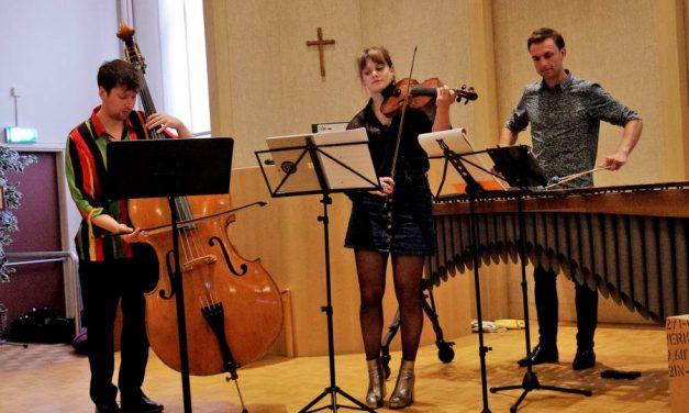 Piazzolla Time met viool, marimba en contrabas in Pro Rege